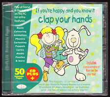 CLAP YOUR HANDS - 25 NURSERY RHYMES + 50 PRINTABLE EDUCATIONAL PAGES - SEALED CD