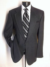 Luxury Valentino Uomo Dark Gray Plaid 2 Button Silk And Wool Size 42L
