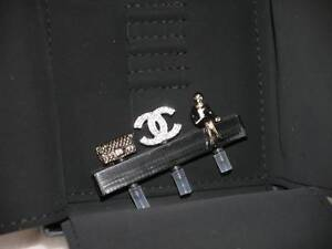 AUTH NEW CHANEL CELL PHONE HEAD CHARMS ACCESSORY A SET OF 3 ANTI-DUST CAP