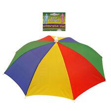 Foldable Multicolour Novelty Umbrella Sun Hat Golf Fishing Camping Fancy Dress
