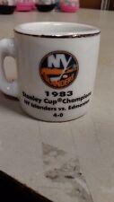 NHL STANLEY CUP CRAZY MINI MUG NEW YORK ISLANDERS 1983 CHAMPS W/OPPONENT &SCORE