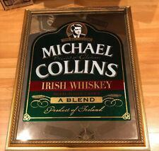 MICHAEL COLLINS IRISH WHISKEY BAR MIRROR SIGN VTG NEW ?