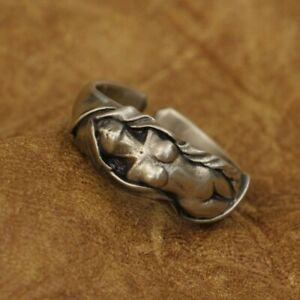 LINSION Cupronickel Sexy Naked Angel Ring Mens Biker Punk Ring CP162A US 7~15