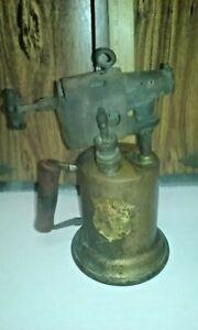 Vintage antique brass blowtorch by Clayton & Lambert MFG co.