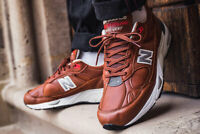 NEW BALANCE 991 MADE IN ENGLAND - ELITE GENT / BROWN / LEATHER MEN'S SHOES