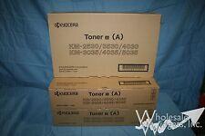 Set of 3 Genuine Kyocera Black Toner OEM 370AB011 KM2530 KM3035 KM3530 KM4030
