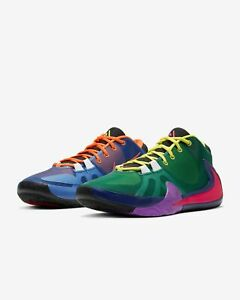 Nike Giannis Zoom Freak 1 What The Multi Green Yellow Red Mens & Kids CT8476-800