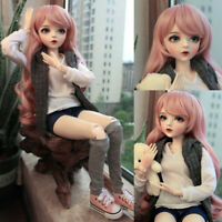 1/3 Ball Jointed BJD Doll Female Girl With Full Set Outfit Removable Eyes Wigs