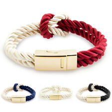 Women's Gold Toned Braided Infinity Rope Tied Bracelet Bangle Gift Present