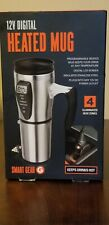 Smart Gear 12V Digital Heated Stainless Steel Travel Cup Mug - Brand New