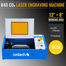 Omtech 40w 12x8 Inch Co2 Laser Cutting Engraving Machine Engraver Cutter K40