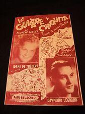 Partition La guitare à Chiquita Trébert Legrand Music sheet