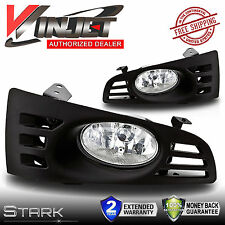 03-05 Accord Coupe JDM Clear Fog Lights Front Bumper Lamps Wiring - PAIR