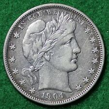 1904-O BARBER HALF DOLLAR in EXTREMELY FINE (EF) CONDITION