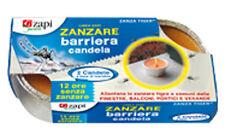 INSETTICIDA ZAPI 2 CANDELE BARRIERA REPELLENTI CONTRO ZANZARA TIGRE E COMUNE