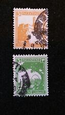 2 Briefmarjen Palestine 3+5 gestempelt