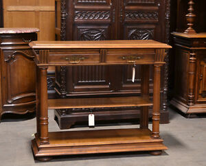 Antique French Renaissance Walnut Console Sideboard