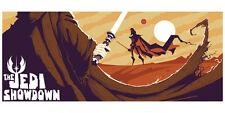 Obiwan Obi Wan Obi-Wan Kenobi vs. Darth Vader Star Wars Silk Screen Artwork