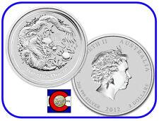 2012 Lunar Dragon 2 oz Silver Australian Coin, Series II, Australia