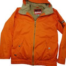 Burton Snowboards Mens Small Orange Snowboard Ski Sherpa Lined Jacket