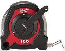 New Milwaukee 100 ft. Long Tape Measure Closed Reel Measuring Tool Heavy Duty
