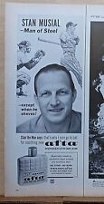 1963 magazine ad for Afta after shave - Stan Musial endorsement
