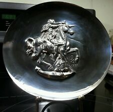 Dali, Salvador 1st Pure Silver Unicorn Dyonisiaque 1971 Limited Collector Plate