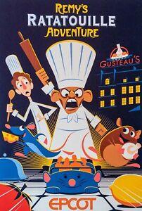 "Disney Epcot Ratatouille Adventure Attraction Poster 12""x18"" (Buy 3 Get 1)"