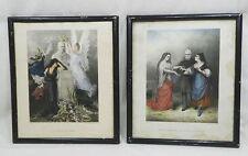 *** BELLE PAIRE DE LITHOGRAPHIES - ADOLPHE THIERS - CONSERVATION DE BELFORT 1877