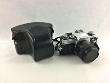 Canon AE-1 35mm Camera Silver/ Black Body FD 50mm 1.4 Lens w/ Cap & Travel Case