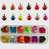 12 Grids Glitter Flame Nail Sequins Set 3D Decoration Holographic Laser Flakes