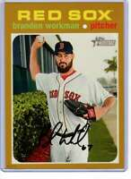 Brandon Workman 2020 Topps Heritage 5x7 Gold #297 /10 Red Sox