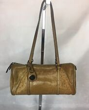 Vintage Dooney & Bourke Tan Leather Shoulder Bag Handbag Barrel Purse
