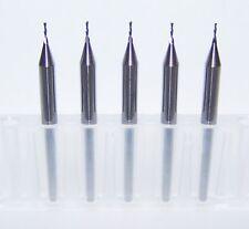 "(5) 0.60mm  (.0236"") CARBIDE 2 FL ENDMILLS, DOWNCUT FOR SOFT PLASTIC, WOOD"