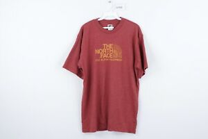 Vintage 90s The North Face Mens XL Spell Out Hiking Short Sleeve T Shirt Red