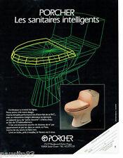 PUBLICITE ADVERTISING 115  1987  PORCHER sanitaires lignes par ordinateur WC