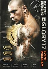 Joe Schilling Signed Glory 17 Kickboxing Event Program BAS Beckett COA Autograph