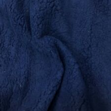 SHERPA FLEECE FABRIC NAVY Supersoft Lamb Cuddle Fur Toys Sheep Soft Clothing