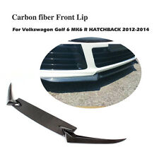 3PCS Front Bumper Lip Splitter Fit for Volkswagen Golf MK6 VI R20 Carbon Fiber