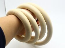 5pcs Large Unfinished Natural Untreated Plain Wooden 100mm-150mm Wood Round Ring