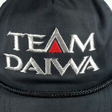 52175d16cd7 Team Daiwa Snapback Hat Cap Black Embroidered Silver Red Logo Fishing Rods  Reels