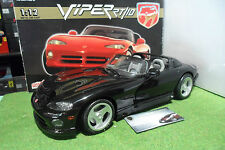 DODGE VIPER RT/10 Cabriolet noir 1/12 d ANSON 30318 voiture miniature collection