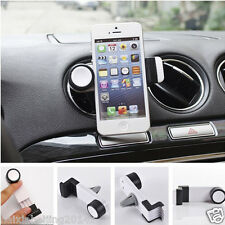 Car Air Vent Outlet White Phone Bracket Clip Case Holder Mount for iPhone 6 Plus