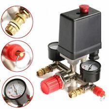 90-120PSI Air Compressor Pressure Valve Switch Regulator Gauge Quick Couplers AU