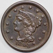 1848 1c N-20 Braided Hair Large Cent