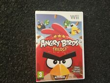 Wii Nintendo Angry Birds Trilogy bonus content included good condition