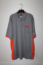 New Harley Davidson men's quick dry stitched logo pocket polo shirt grey XXL