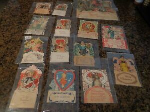 Lot 13 Victorian Stand Up Valentines - 10 Small-2 Medium-1Large