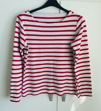 """Red and White Striped Heavyweight T Shirt - approx 32"""" bust"""