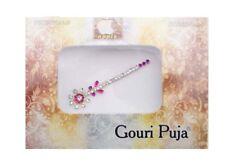 Bindi  long bijou de peau mariage front strass cristal rose- FS13 D 2786